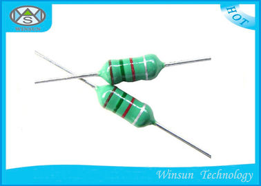 Green LGA Color Code Fixed Inductor Small Size 0204 - 0510 With Epoxy Resin Coating