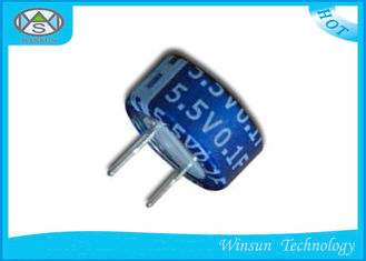 China Button C Type Super Farad Capacitor Low ESR  Blue 5.5V One Farad Capacitor supplier