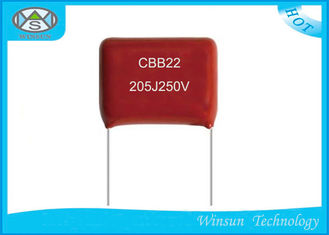China Pulse Metallized Polyester Film Capacitor CBB22  2 Microfarad Polypropylene Capacitor supplier