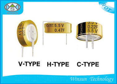 China High Power Low ESR Electrolytic Capacitor , 5.5V Button Electric Double Layer Super Capacitor distributor